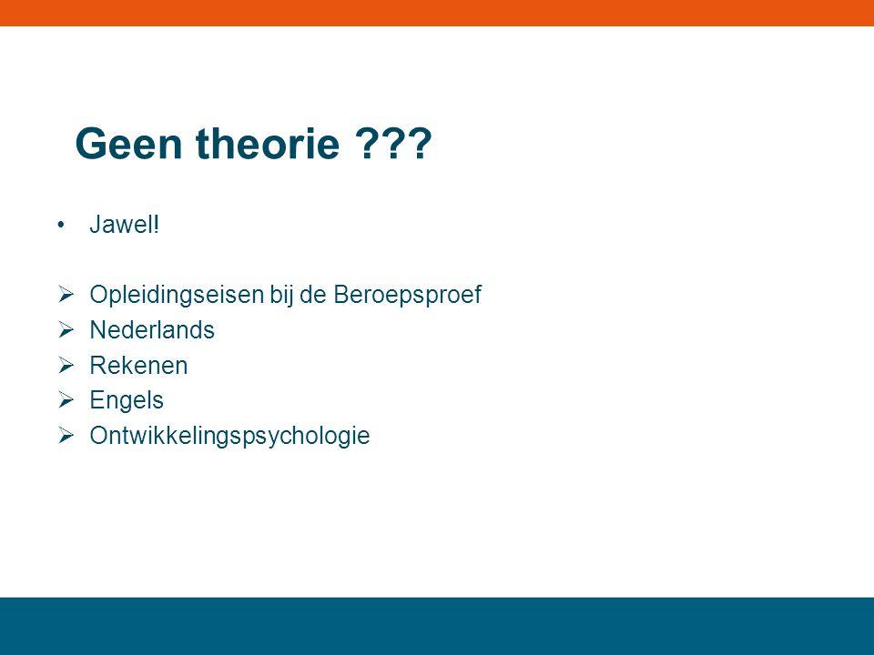 Geen theorie Jawel! Opleidingseisen bij de Beroepsproef Nederlands