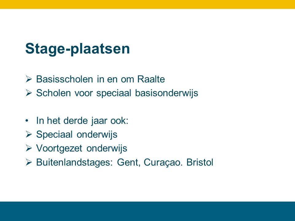 Stage-plaatsen Basisscholen in en om Raalte