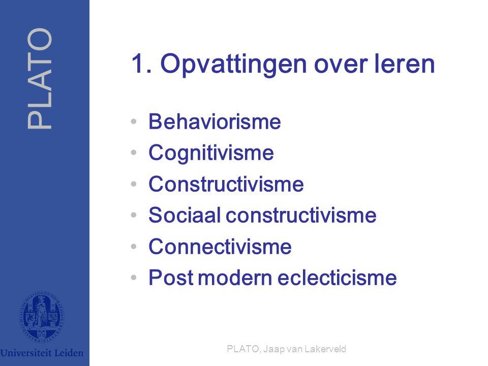 1. Opvattingen over leren