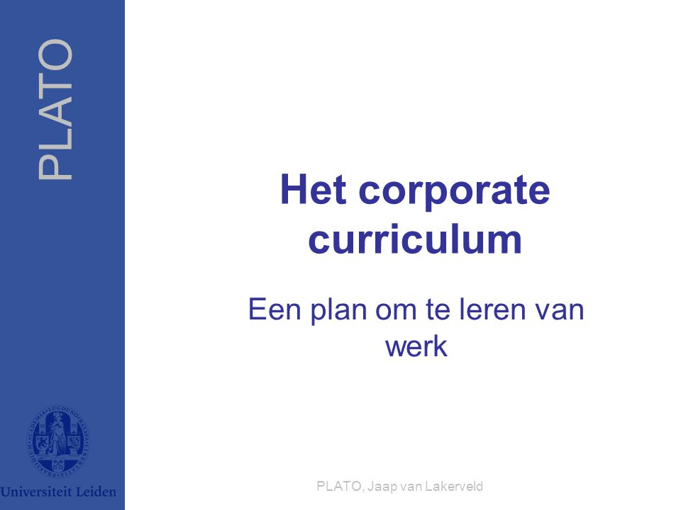 Het corporate curriculum