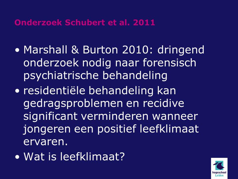 Onderzoek Schubert et al. 2011