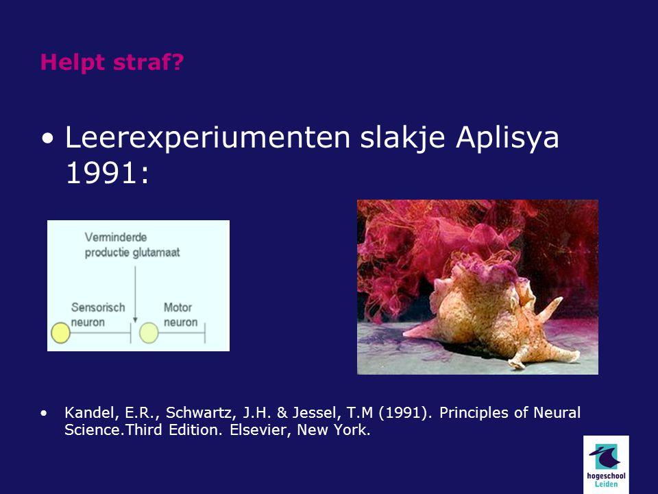 Leerexperiumenten slakje Aplisya 1991: