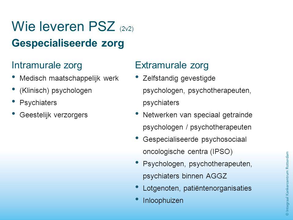 Wie leveren PSZ (2v2) Gespecialiseerde zorg