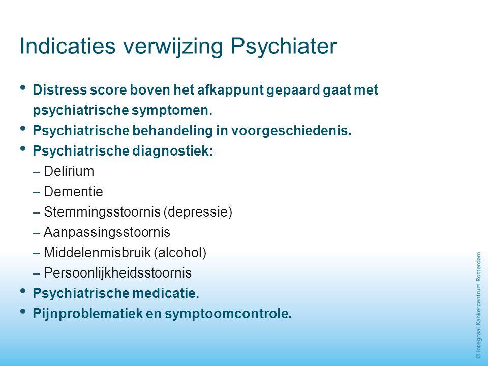 Indicaties verwijzing Psychiater
