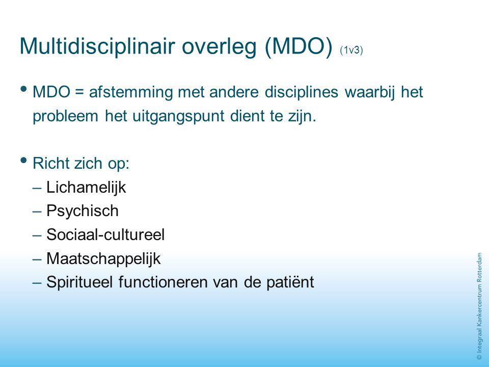 Multidisciplinair overleg (MDO) (1v3)