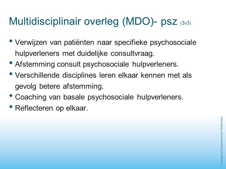 Multidisciplinair overleg (MDO)- psz (3v3)