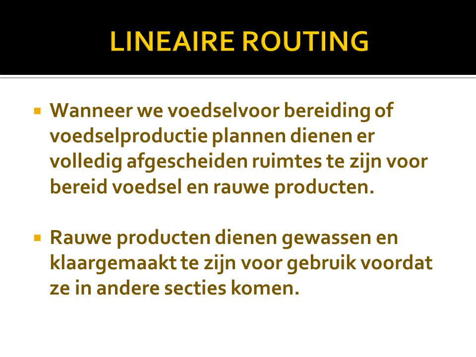LINEAIRE ROUTING