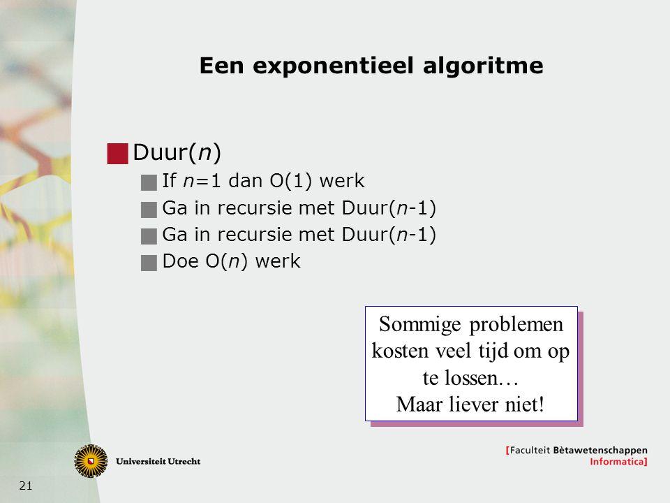 Een exponentieel algoritme