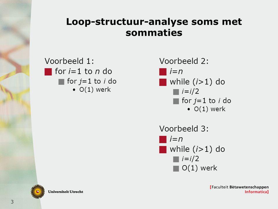 Loop-structuur-analyse soms met sommaties