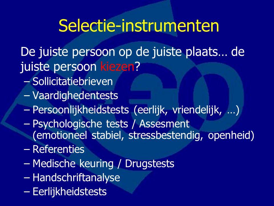 Selectie-instrumenten