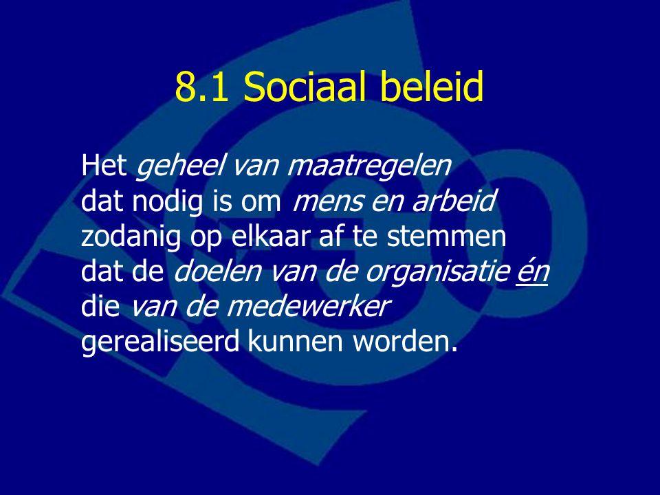 8.1 Sociaal beleid