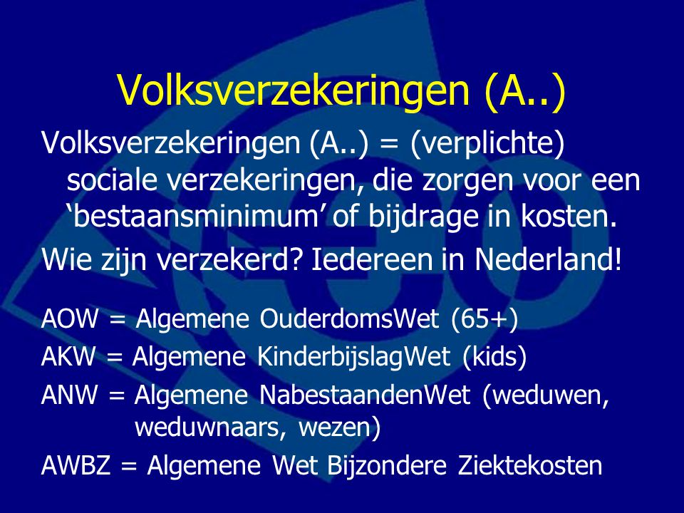 Volksverzekeringen (A..)