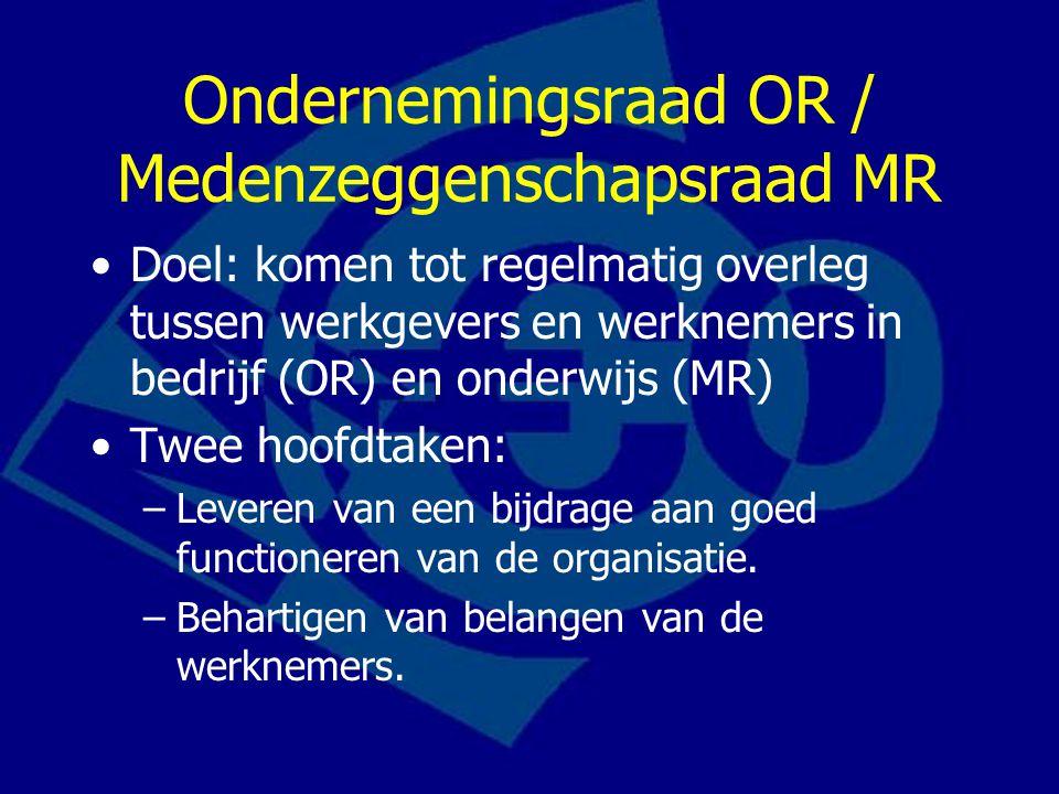 Ondernemingsraad OR / Medenzeggenschapsraad MR