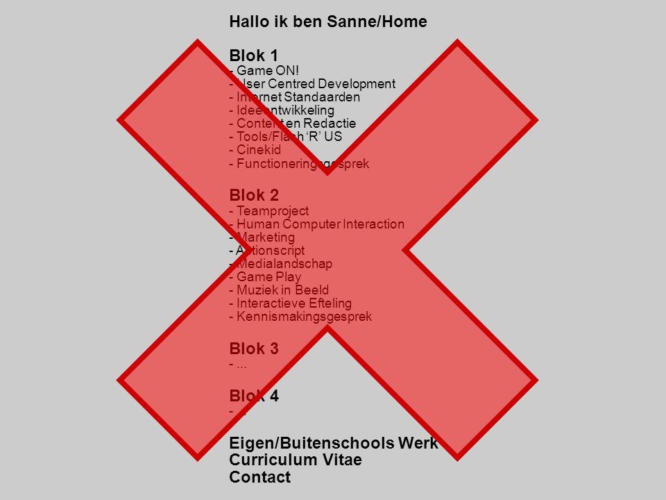 Hallo ik ben Sanne/Home Blok 1