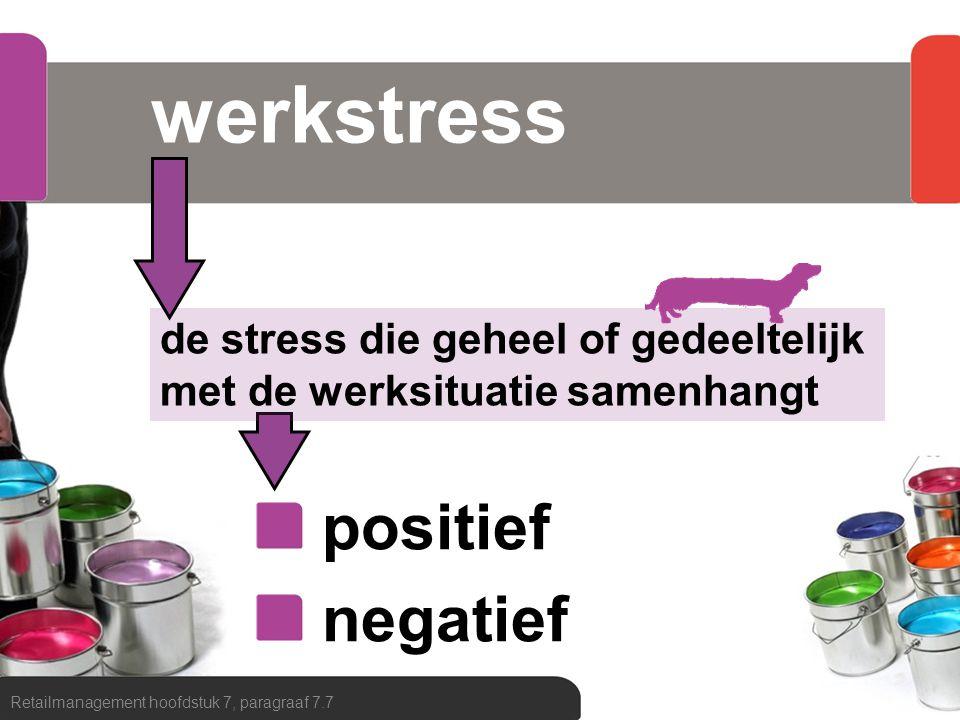 werkstress positief negatief