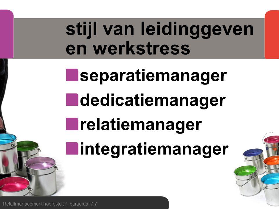 stijl van leidinggeven en werkstress