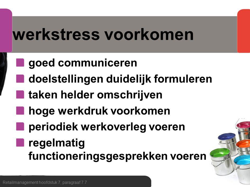 werkstress voorkomen goed communiceren