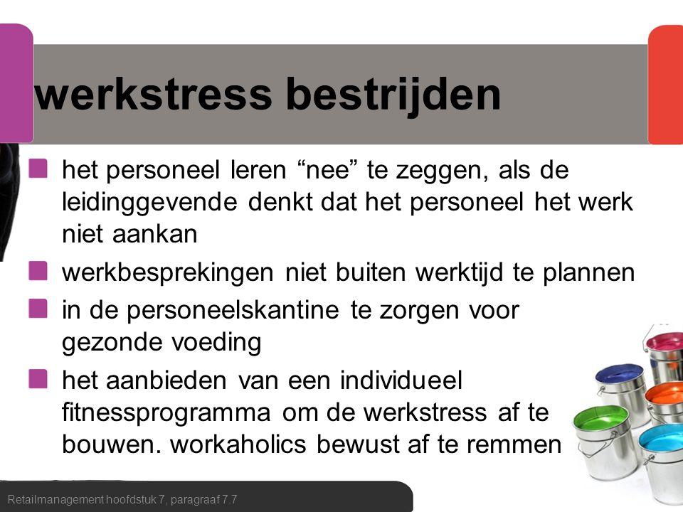 werkstress bestrijden