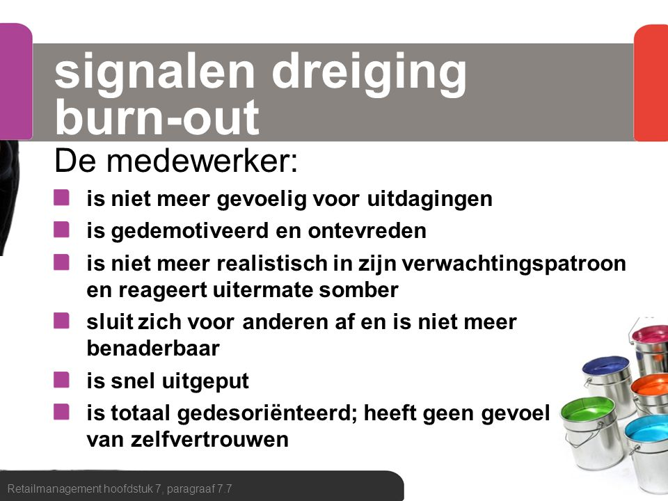 signalen dreiging burn-out