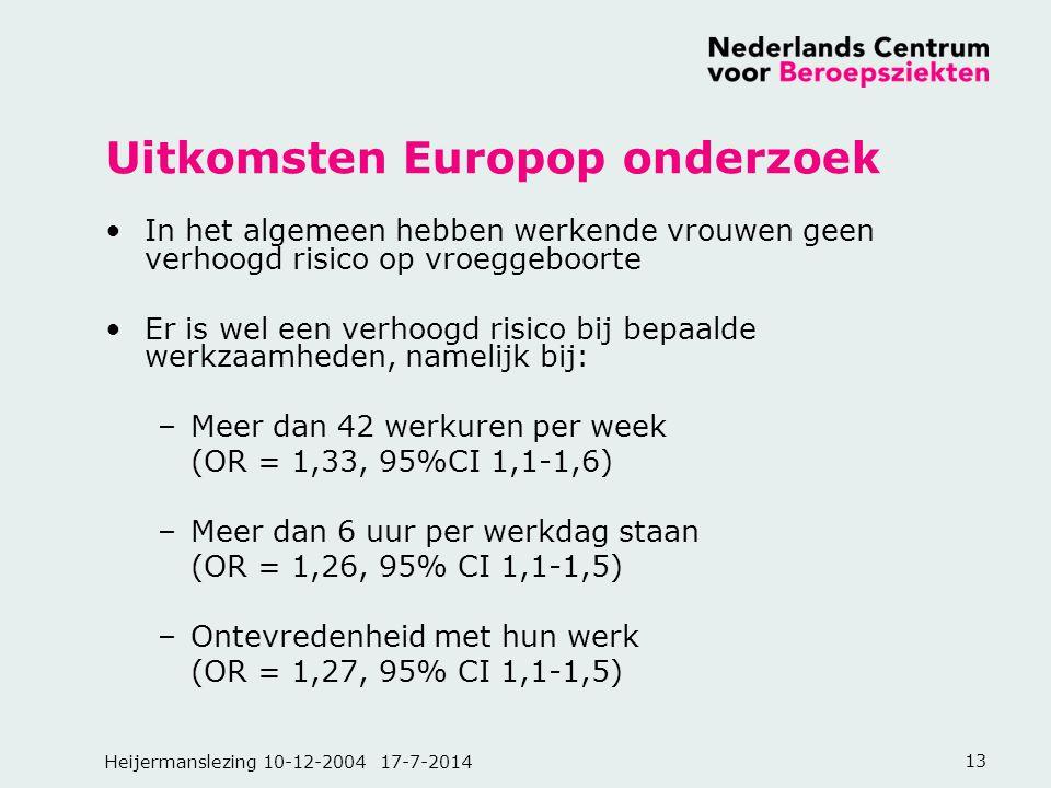 Uitkomsten Europop onderzoek
