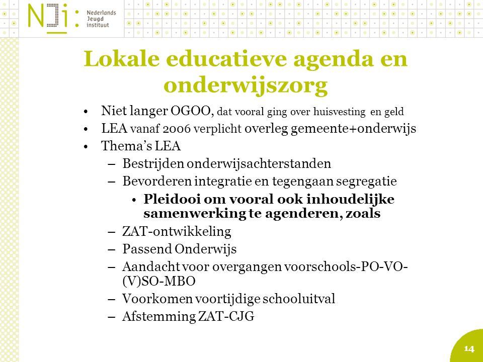 Lokale educatieve agenda en onderwijszorg