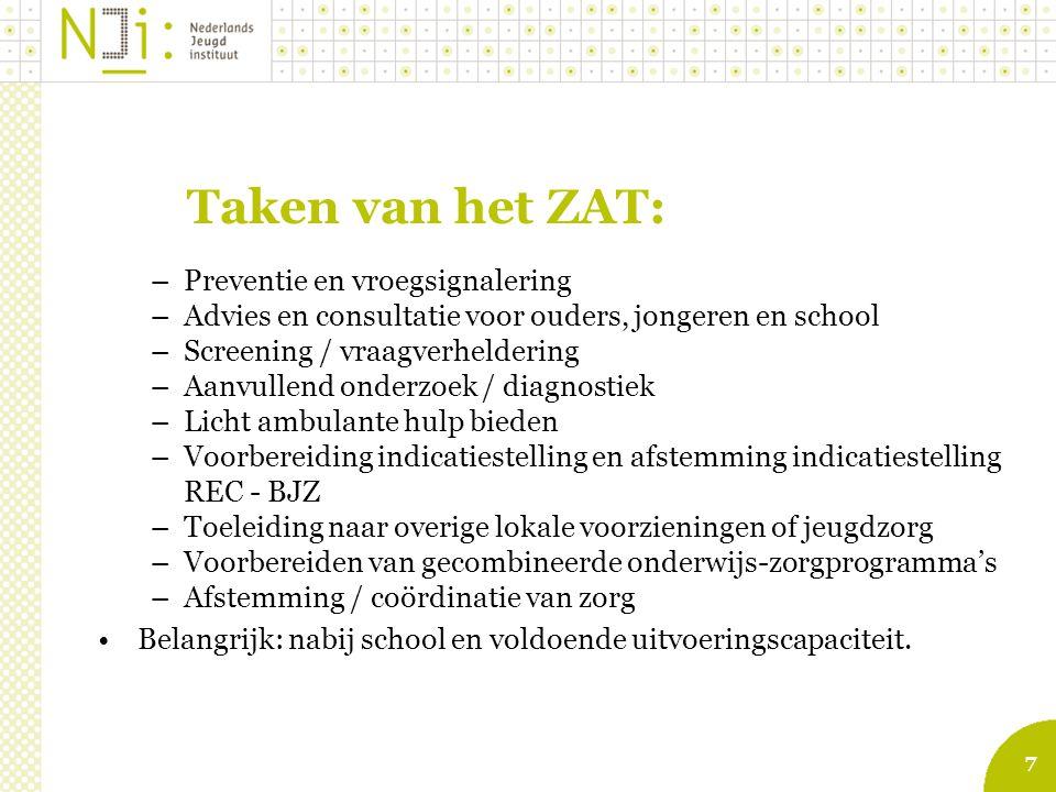 Taken van het ZAT: Preventie en vroegsignalering