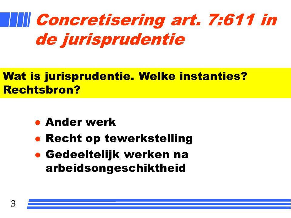 Concretisering art. 7:611 in de jurisprudentie