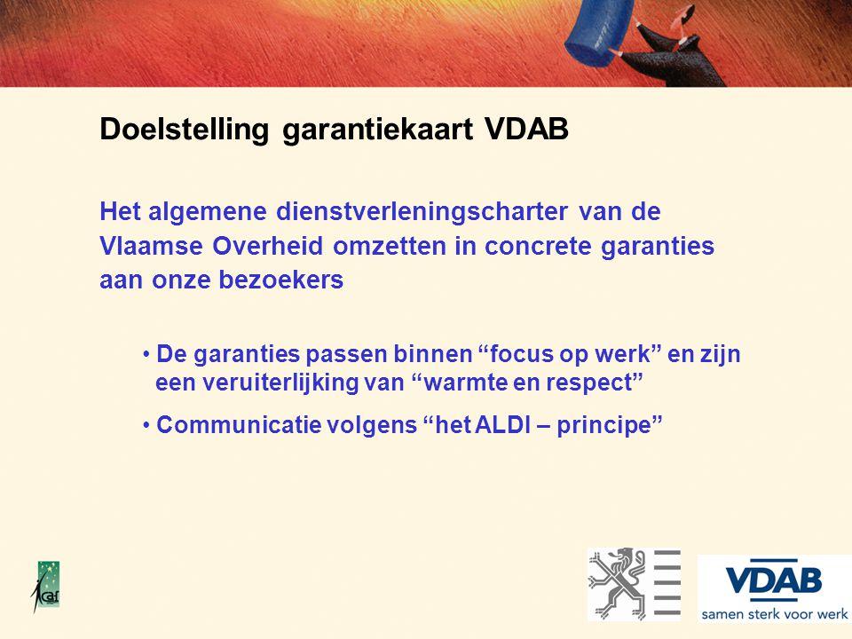 Doelstelling garantiekaart VDAB