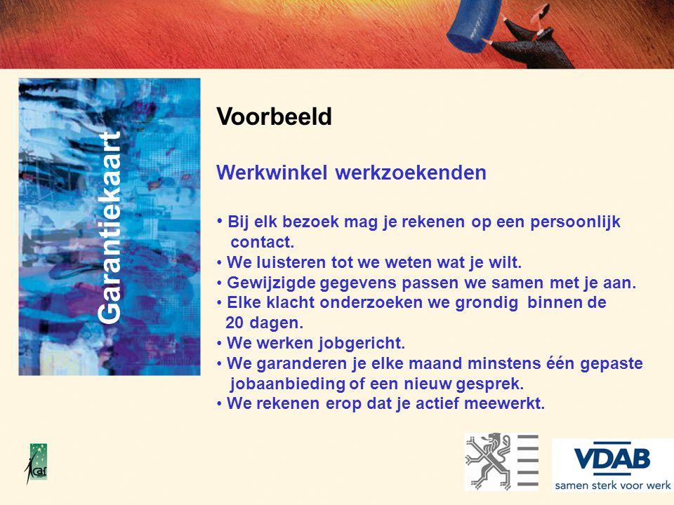 Garantiekaart Voorbeeld Werkwinkel werkzoekenden