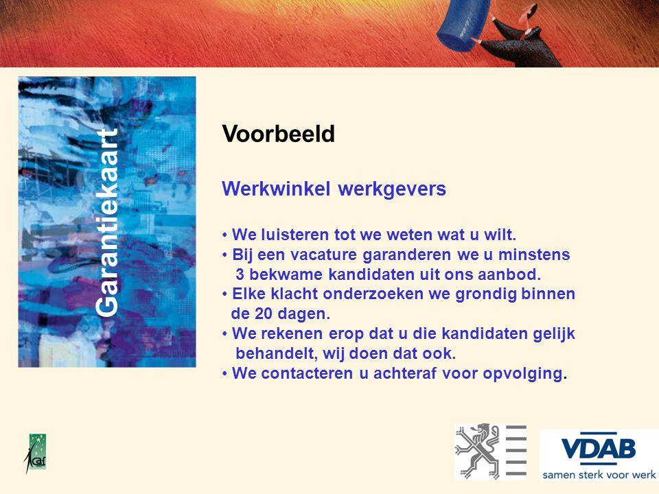 Garantiekaart Voorbeeld Werkwinkel werkgevers