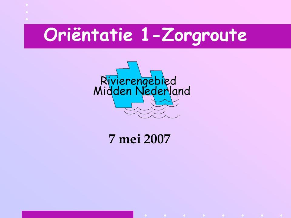 Oriëntatie 1-Zorgroute