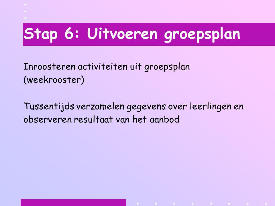 Stap 6: Uitvoeren groepsplan