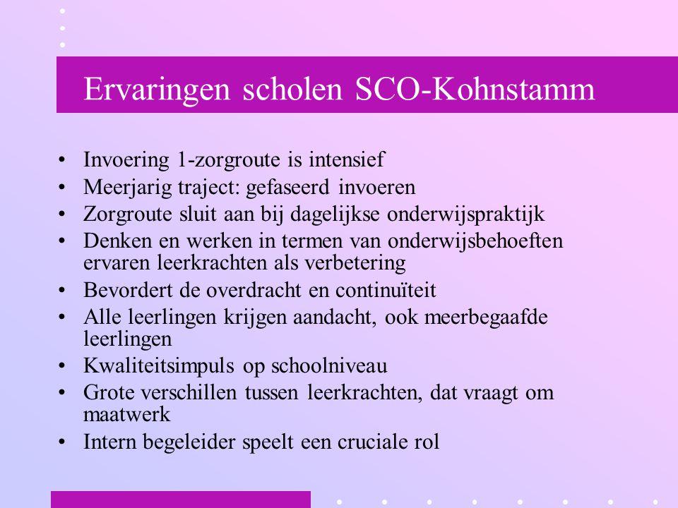Ervaringen scholen SCO-Kohnstamm