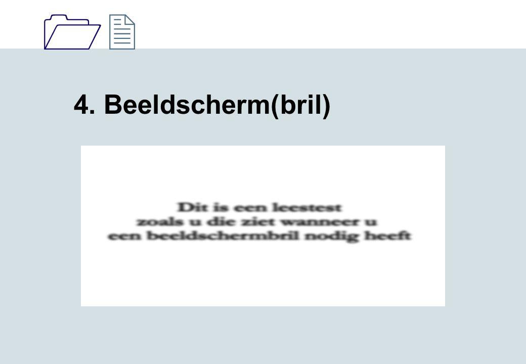 4. Beeldscherm(bril)