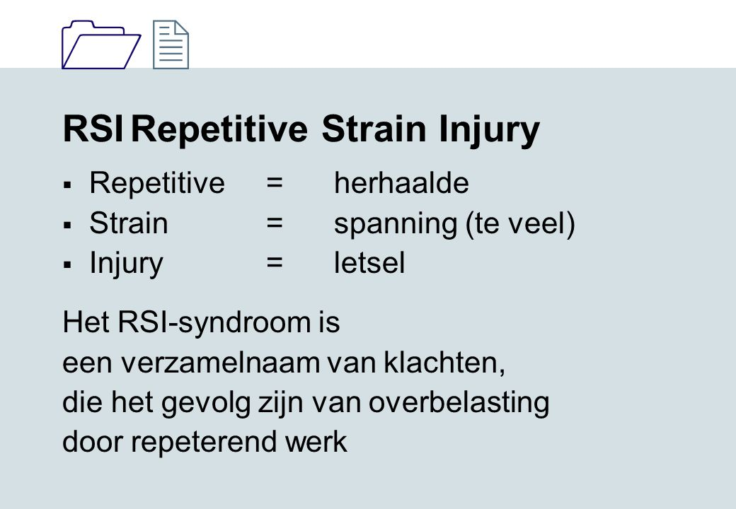RSI Repetitive Strain Injury