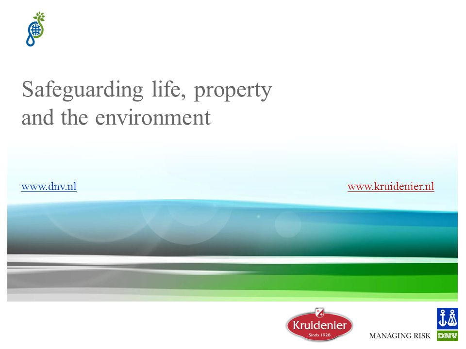 Safeguarding life, property and the environment