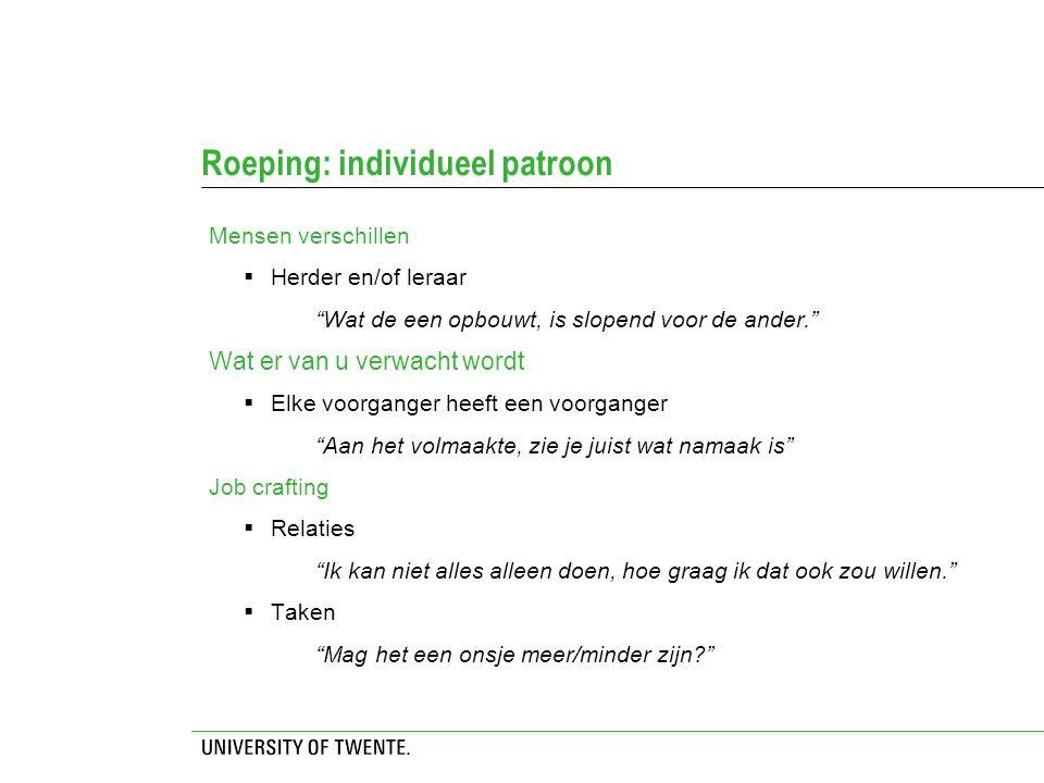 Roeping: individueel patroon