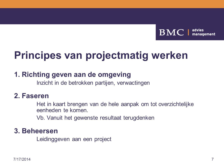 Principes van projectmatig werken