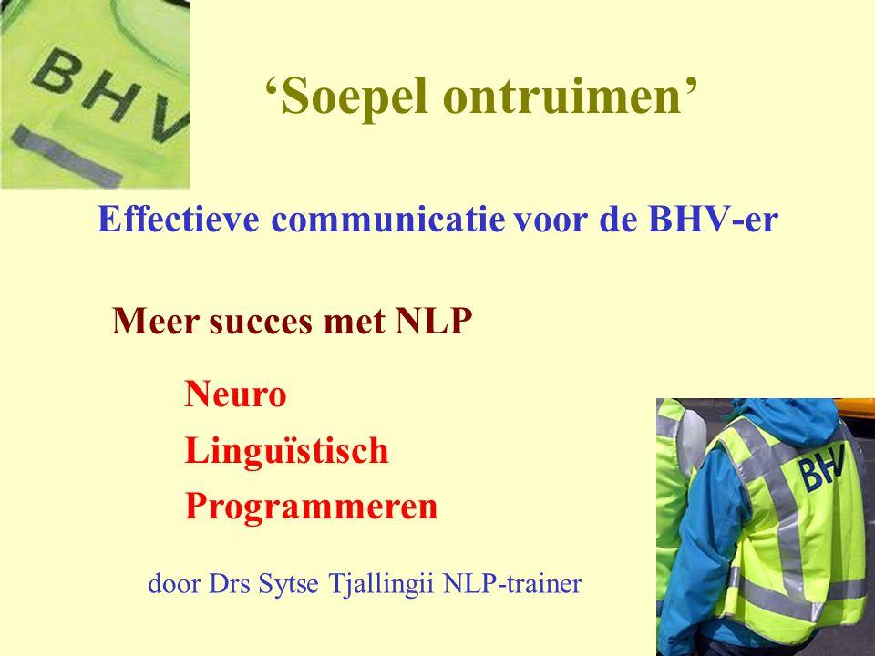 Effectieve communicatie voor de BHV-er
