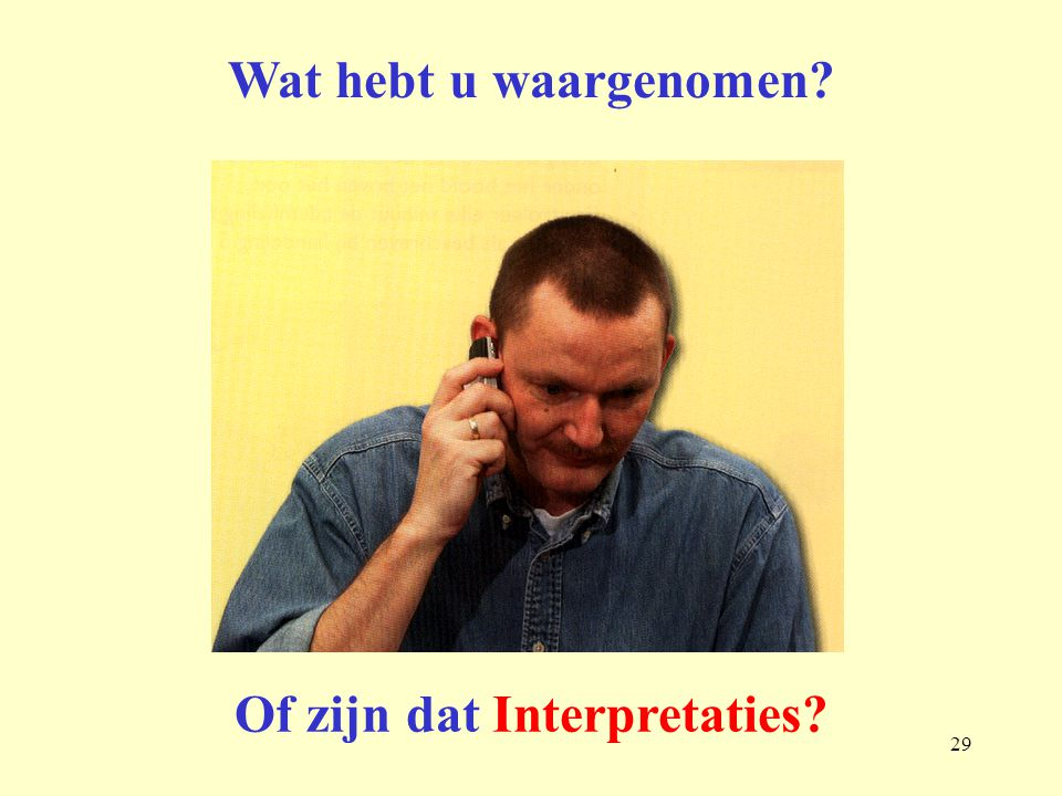 Of zijn dat Interpretaties