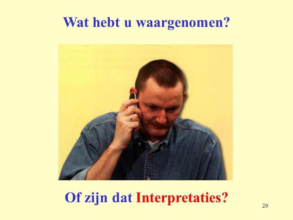 Of zijn dat Interpretaties