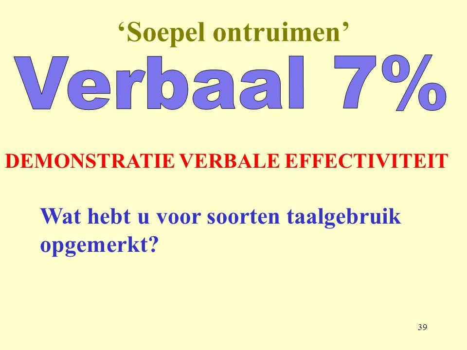 'Soepel ontruimen' Verbaal 7%