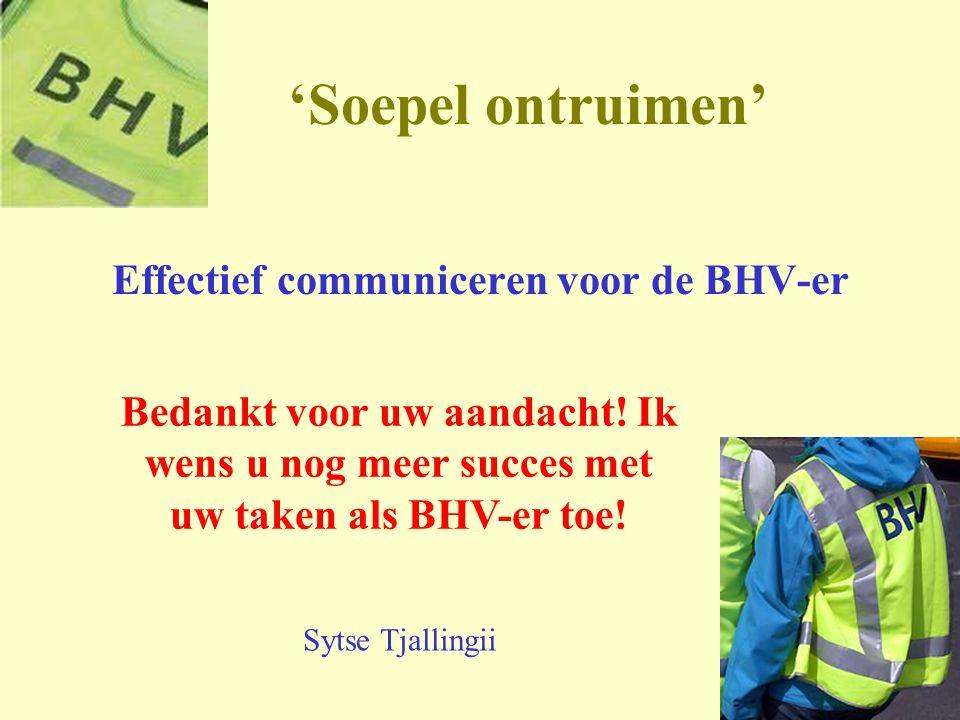 Effectief communiceren voor de BHV-er
