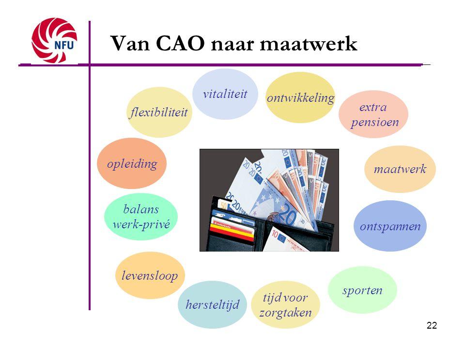 Van CAO naar maatwerk vitaliteit ontwikkeling flexibiliteit extra