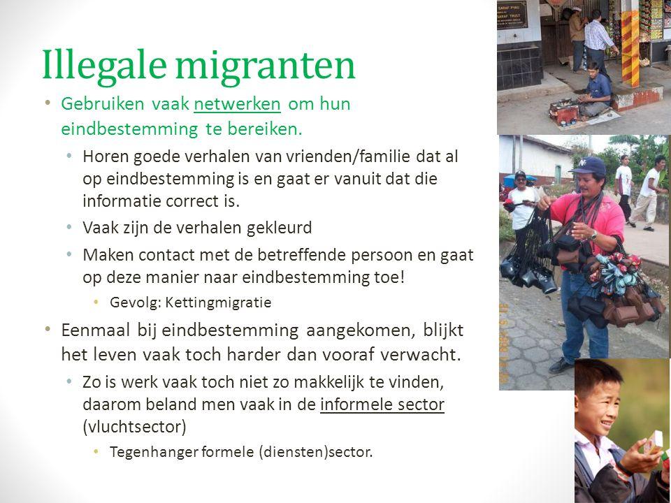 Illegale migranten Gebruiken vaak netwerken om hun eindbestemming te bereiken.