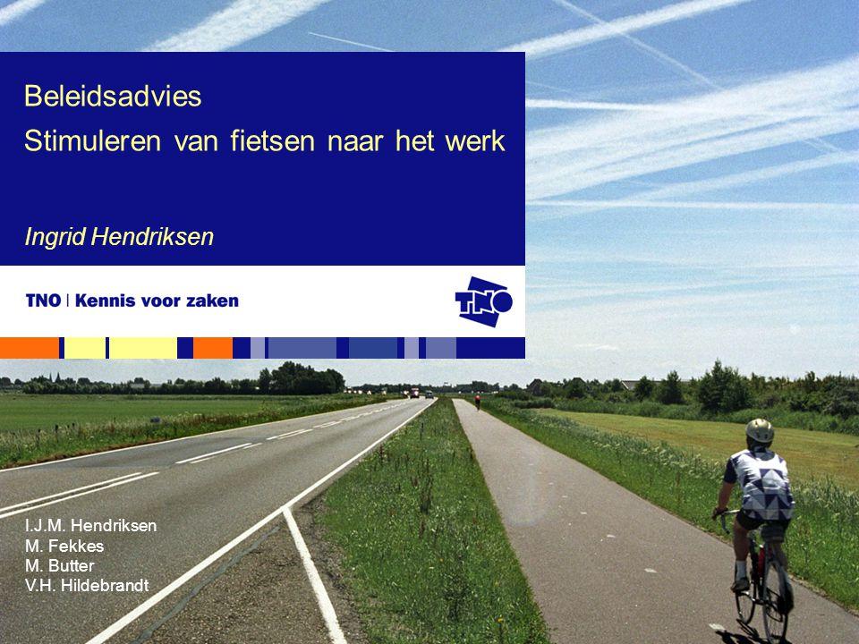 Beleidsadvies Stimuleren van fietsen naar het werk