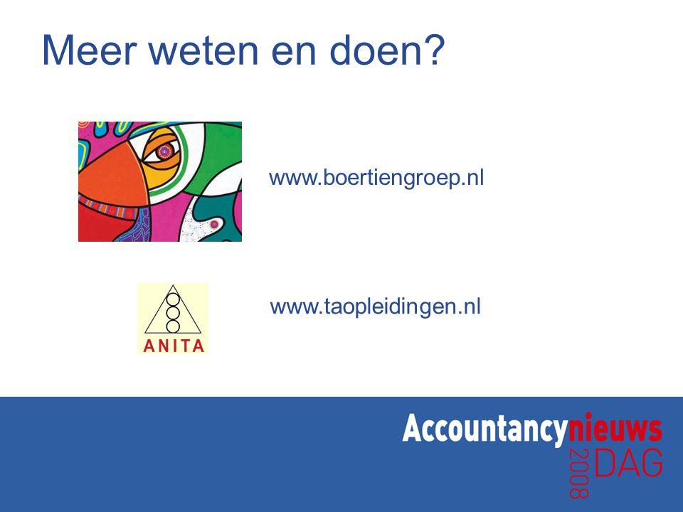 Meer weten en doen www.boertiengroep.nl www.taopleidingen.nl