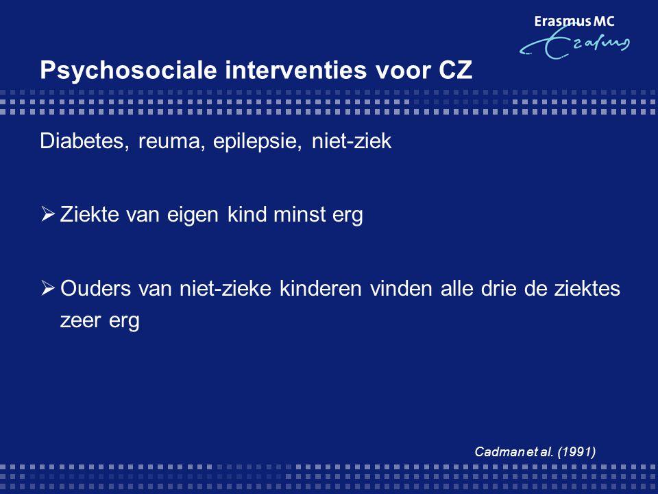 Psychosociale interventies voor CZ