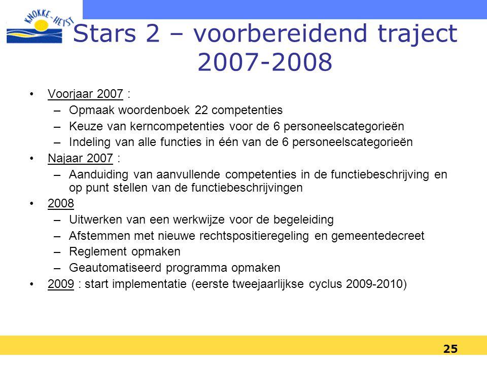 Stars 2 – voorbereidend traject 2007-2008