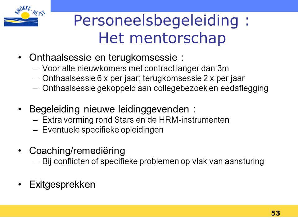 Personeelsbegeleiding : Het mentorschap